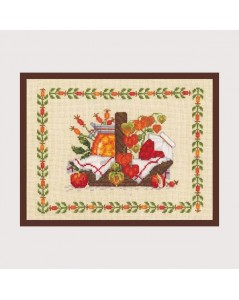 Autumn basket. Counted cross stitch embroidery kit. Le Bonheur des Dames 1042