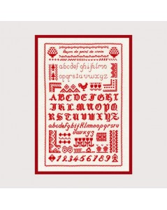 Cross stitch lesson – red
