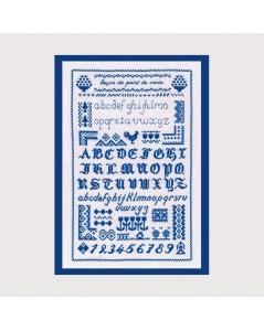 Cross stitch lesson - blue