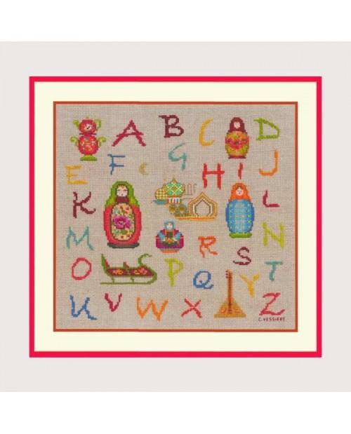 Alphabet Russian Dolls