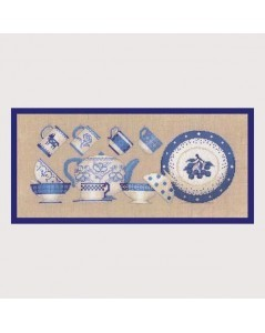 Blue tableware
