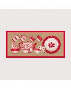 Red tableware