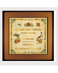 Honey - Alphabet. Le Bonheur des Dames counted cross stitch embroidery kit. 1172