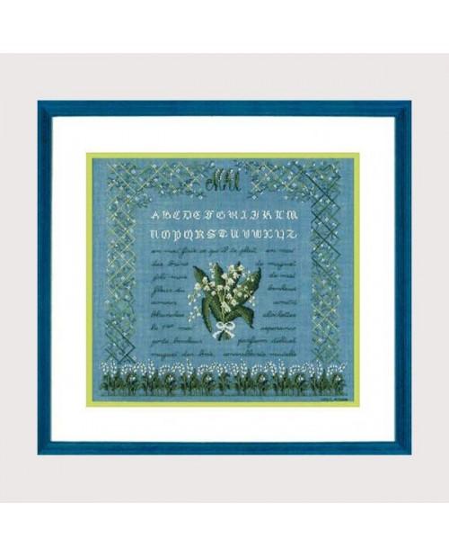May. Petit point embroidery kit. Alphabet. Le Bonheur des Dames. 1187