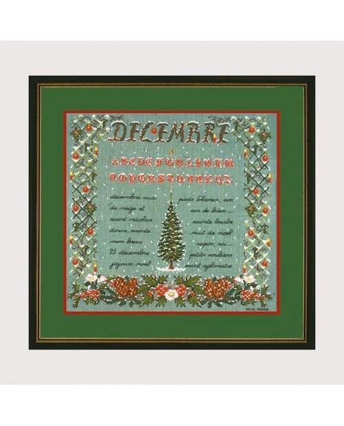 December. Counted stitch kit, petit point. Le Bonheur des Dames n° 1189