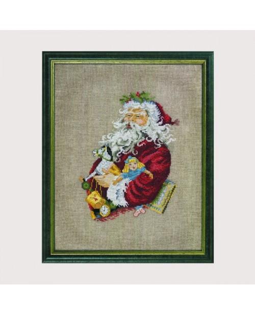 Santa Claus with rocking horse