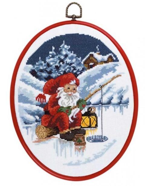 Santa Claus fishing