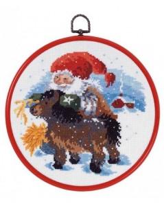 Santa Claus with pony
