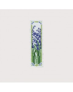 Bookmark Bluebells. Cross stitch kit. Textile Heritage