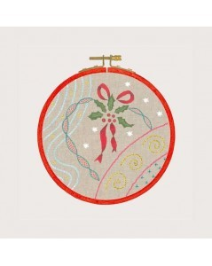 Traditional embroidery kit, with printed motive, embroidery lesson - Christmas ambience. Le Bonheur des Dames 1544