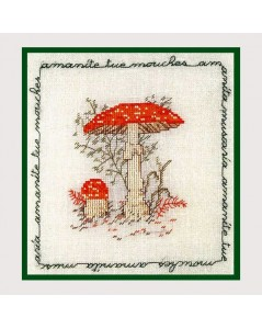 Mushroom. Fly agaric. Counted cross stitch embroidery kit. Le Bonheur des Dames