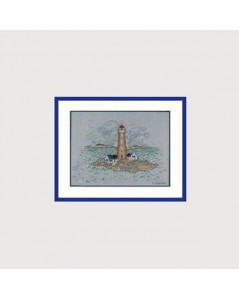 Broderie point de croix, point compté. Phare. Le Bonheur des Dames 1989