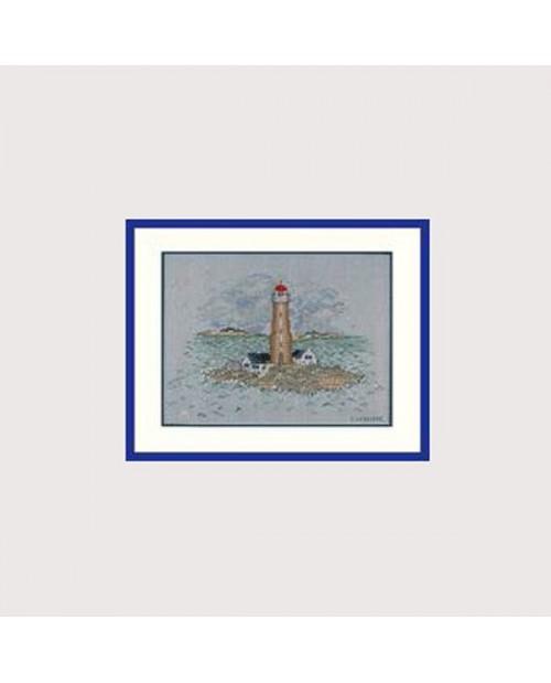 Lighthouse. Counted cross stitch embroidery kit. Le Bonheur des Dames 1989.