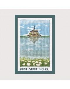 Mont St Michel broderie point de croix, point compté. Le Bonheur des Dames 1990