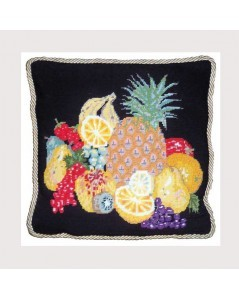 Canvas kit. Design Printed. Motive Fruits. Le Bonheur des Dames.