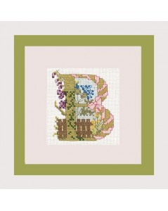Letter flower - B
