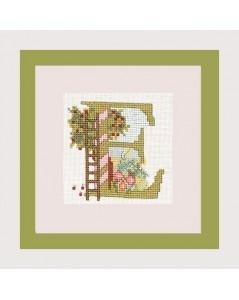 Letter flower - E