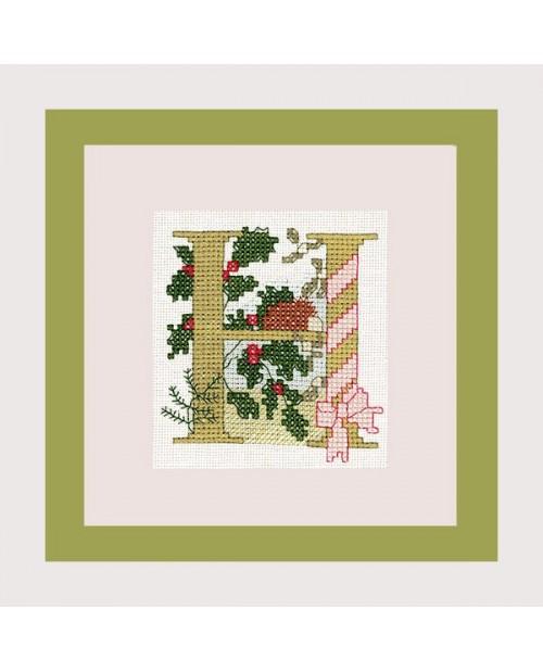 Letter flower - H