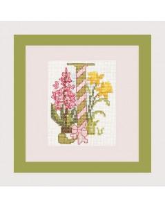 Letter flower - J