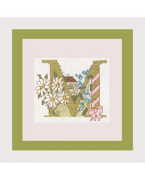 Letter flower - M