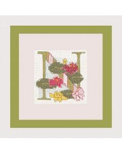 Letter flower - N