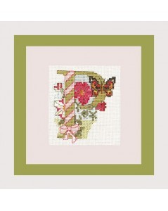 Letter flower - P