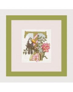 Letter flower - T
