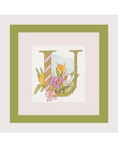 Letter flower - U