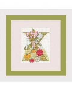Letter flower - X