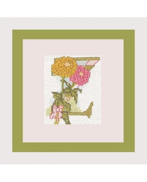 Letter flower - Z