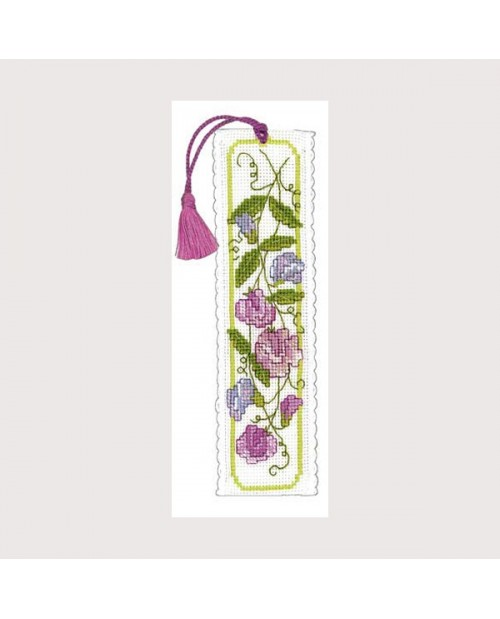 Bookmark kit sweet peas
