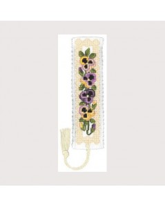 Bookmark kit pansies