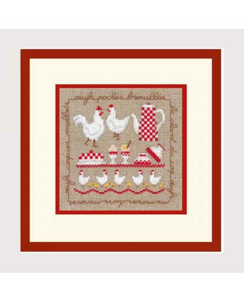 Hens. Counted cross stitch kit. Le Bonheur des Dames. Kit n° 2256
