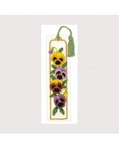 Bookmark kit pansies