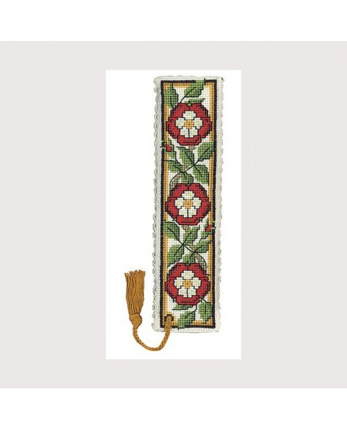 Bookmark kit heraldic rose