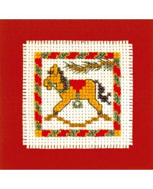Mini card rocking horse