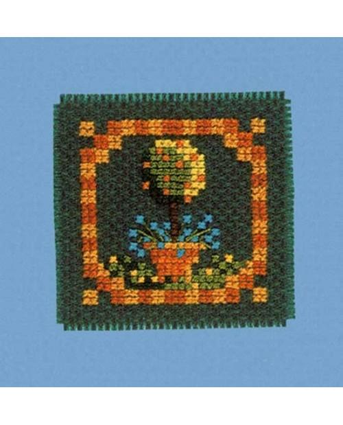 Mini card orange tree