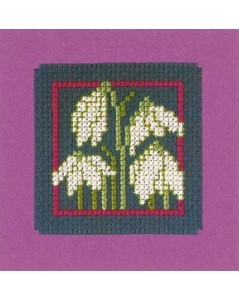 Mini card white flower