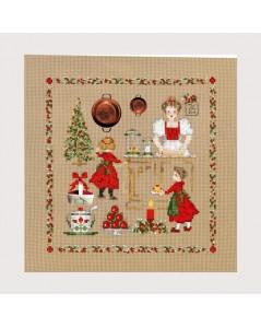 Christmas accessories. Counted cross stitch picture. Le Bonheur des Dames 2617
