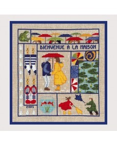 Welcome March. Counted cross stitch kit on Aida fabric. Le Bonheur des Dames 2652