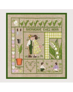 Welcome May. Counted cross stitch kit on Aida fabric. Le Bonheur des Dames 2654