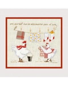Counted cross stitch kit. Till April's dead change not a thread. Le Bonheur des Dames. Item n°  2663