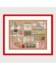 Kitchen. Counted cross stitch and petit point embroidery kit. Le Bonheur des Dames 2680