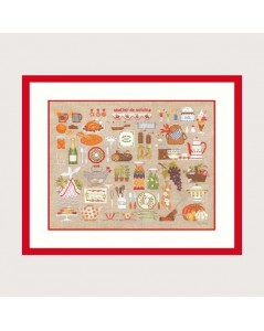 Kitchen workshop. Petit point and Cross stitch embroidery kit. Le Bonheur des Dames 2684.