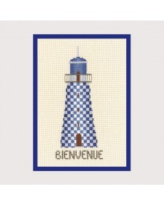 Lighthouse bienvenue (welcome) blue - gift-pres.