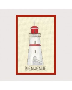 Lighthouse bienvenue (welcome) red - gift-pres.