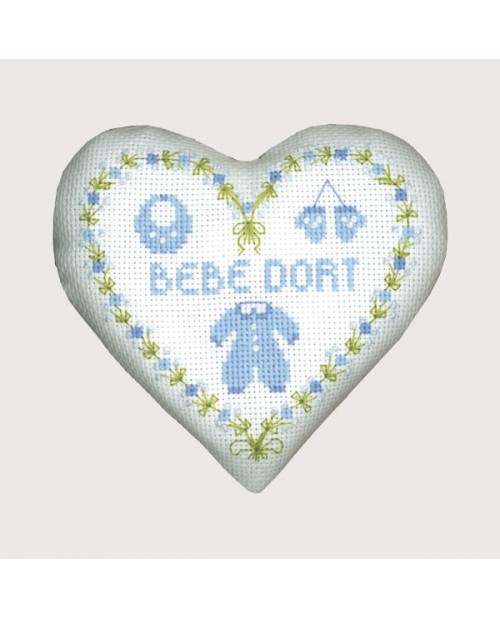 Blue baby heart box
