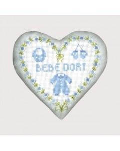 Blue baby heart box