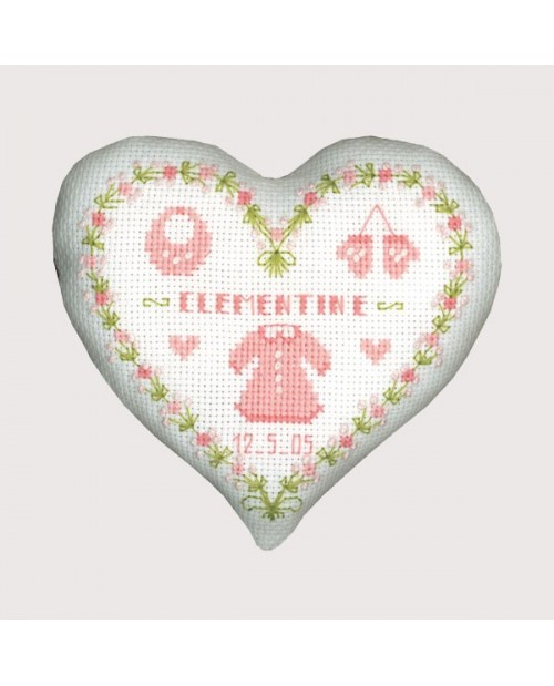 Pink baby heart box