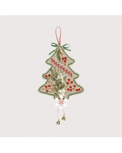 Counted cross stitch embroidery kit. Christmas tree to stitch. Item n° 2724.
